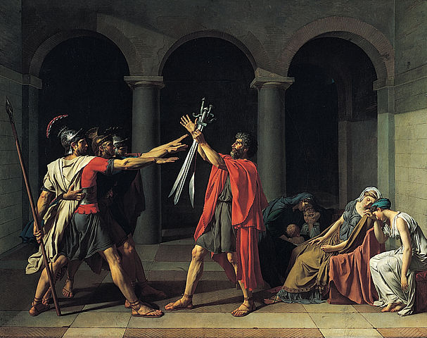 Le Serment des Horaces par Jacques-Louis David (1784-1785)