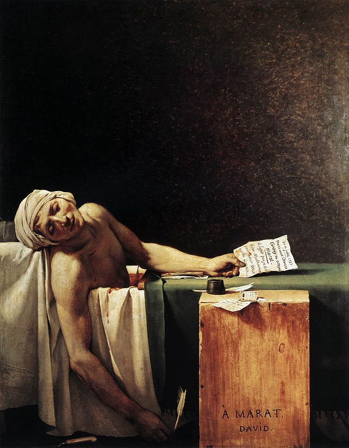Marat assassiné par Jacques-Louis David (1793)